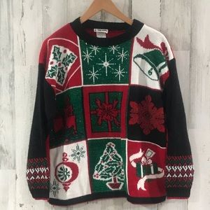 Vintage Christmas Crew Neck Sweater Size Large